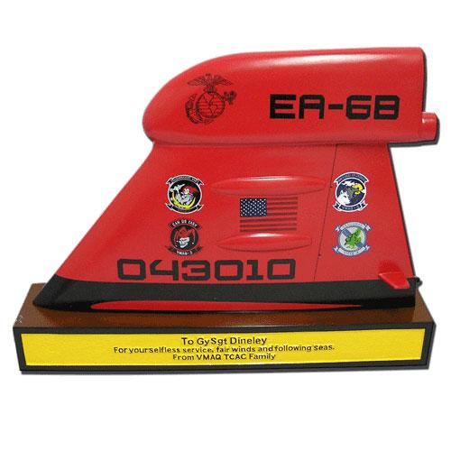 USMC TF-EA 6B Desktop Tail Flash Plaque
