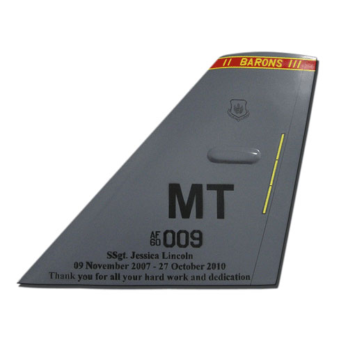USAF TF MT 009 Tail Flash Wall Plaque