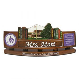 DOD Teachers Desk Nameplate Model 3