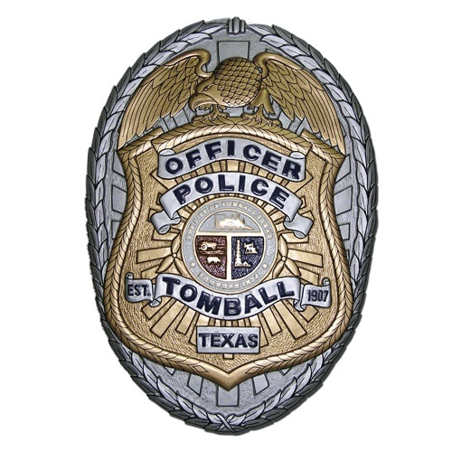 Tomball TX Police Officer Badge Plaque