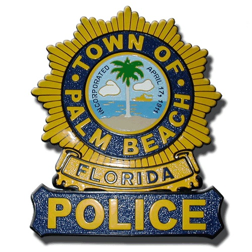 Palm Beach Florida Police Badge Plaque