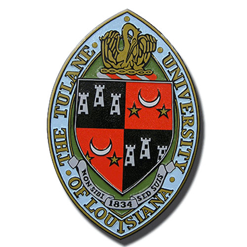 The Tulane University of Louisiana Emblem