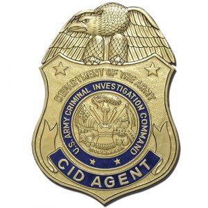 US Army Criminal Investigation Command Agent Badge Plaque