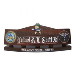 US Army Dental Corps Desk Nameplate