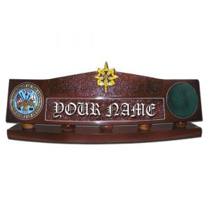 US Army Military Intelligence Desk Nameplate