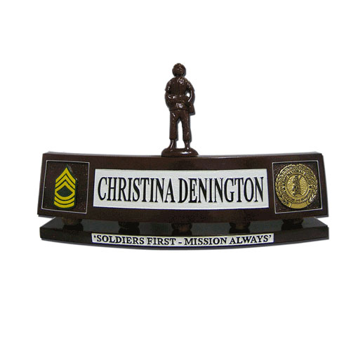 US Army National Guard Desk Nameplate