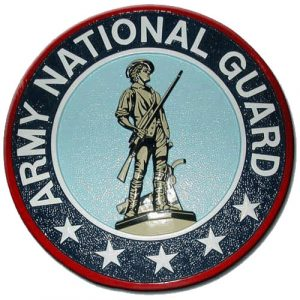 US Army National Guard Seal / Podium Plaque