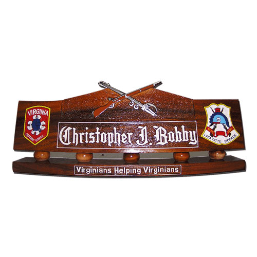 US Army Rifle and Sword Desk Nameplate