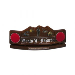 US Army Soldier and Trucks Desk Nameplate