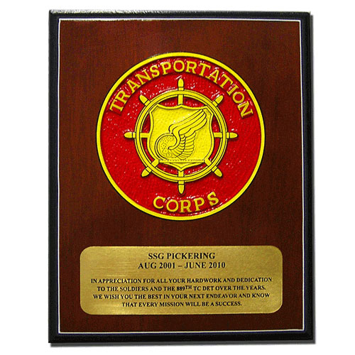US Army Transportation Corps Plaque