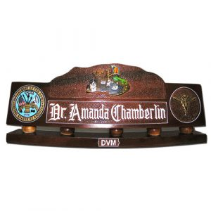 US Army Veterinary Corps Desk Nameplate