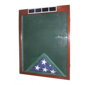 US Army W4 Retirement / Shadow Box Natural Dark