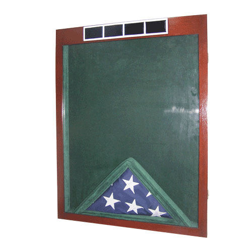 US Army W4 Retirement / Shadow Box Natural Dark