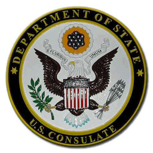 US Consulate Seal / Podium Plaque
