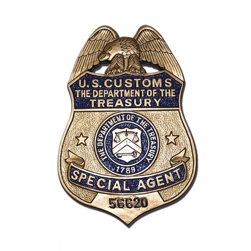 US Customs Treasury Badge Plaque