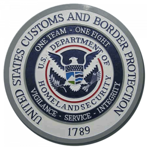 US Customs & Border Protection Plaque