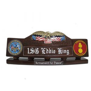 US Eagle and Flag Desk Nameplate Model 1