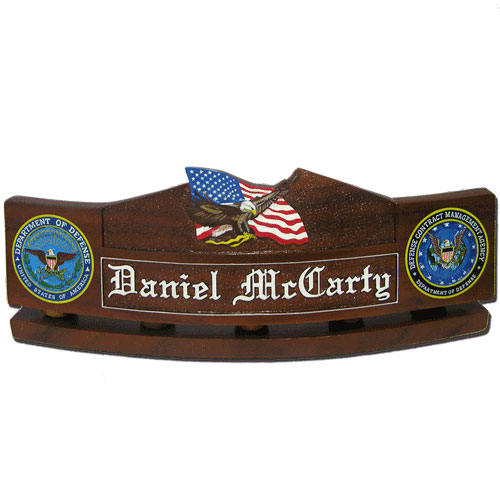 US Eagle and Flag Desk Nameplate Model 2
