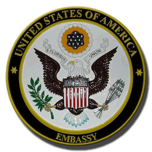 US Embassy Seal / Podium Plaque