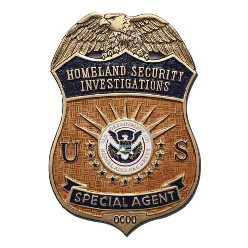 US HSI Special Agent Badge Plaque