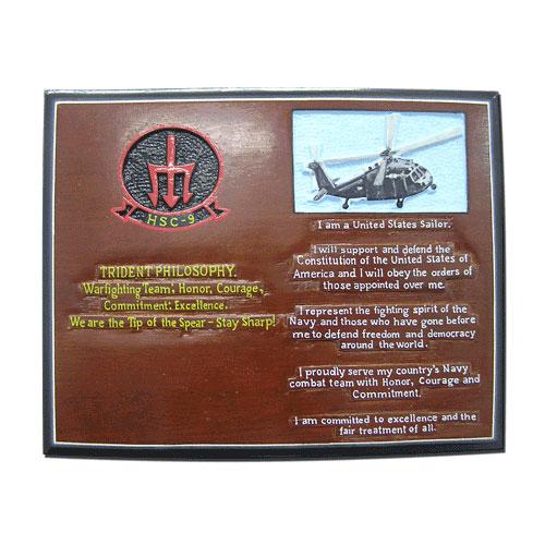 US Navy HSC 9 Trident Philosophy Plaque