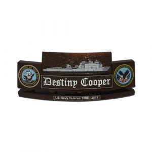 USN Harpers Ferry Class LSD 49 Desk Nameplate