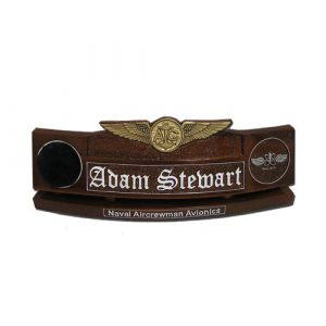 US Navy USCG USMC Enlisted Aircrew Badge Desk Nameplate