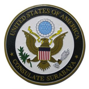 US Surabaya Consulate Seal
