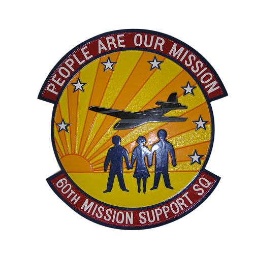 USAF 60th Mission Support SQ Emblem