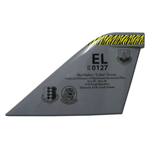 USAF B-1B Lancer EL Tail Flash Wall Plaque