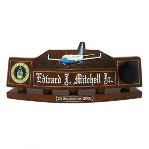 USAF Boeing 747 200B Desk Nameplate