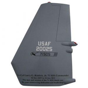USAF CV-22 Osprey NM Tail Flash Wall Plaque