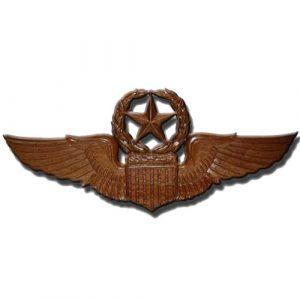 USAF Master Pilot Wings Insignia Plaque