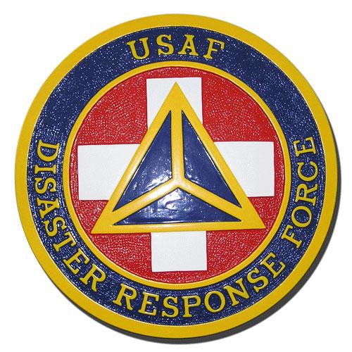 USAF Disaster Response Force DRF Seal - Podium Plaque