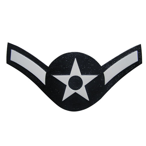 USAF E2 Rank Insignia Plaque