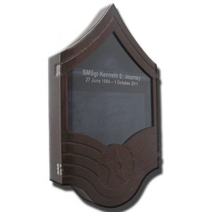 US Air Force E8 Retirement / Shadow Box Natural Dark