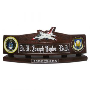 USAF F16 Fighting Falcon Desk Nameplate