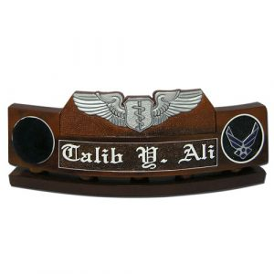 USAF Flight Nurse Badge Desk Nameplate