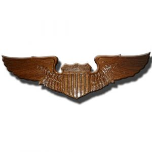 USAF Pilot Wings Insignia Plaque