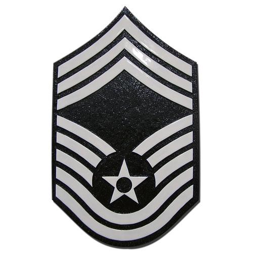 USAF E9 Rank Insignia Plaque
