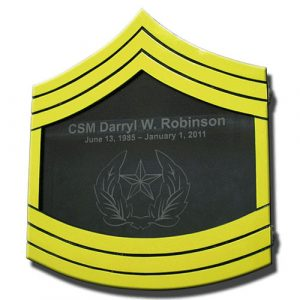 US Army E9 Retirement / Shadow Box Colored