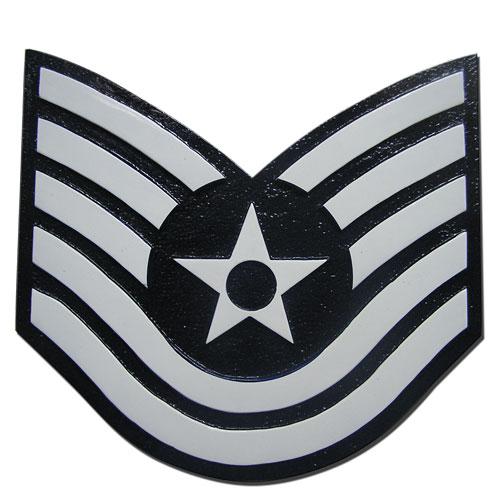 USAF E6 Rank Insignia Plaque