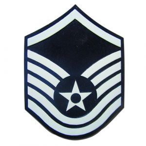 USAF E7 Rank Insignia Plaque
