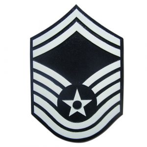 USAF E8 Rank Insignia Plaque