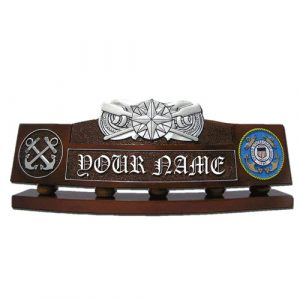 USCG Coxswain Pin Desk Nameplate