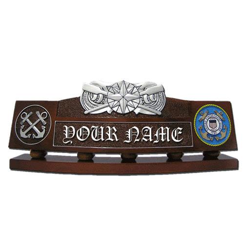 USCG Coxswain Pin Desk Nameplate