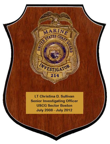 USCG Marine Investigator Plaque