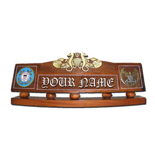 USCG Port Security Warfare Officer Desk Nameplate