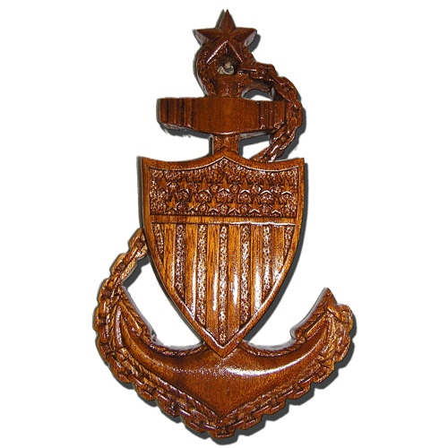 USCG Anchor Plaque SCPO E8