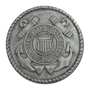 US Coast Guard USCG Seal Antique Silver